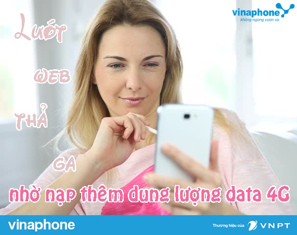 cach mua them dung luong data 4g mang vinaphone
